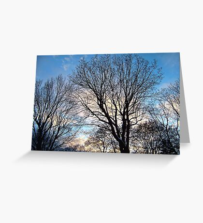 November Sky in Kalispell - West Greeting Card