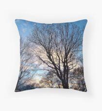 November Sky in Kalispell - West Throw Pillow