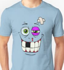 Smiley Beat-up Monster Face Unisex T-Shirt