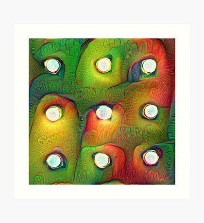 #DeepDream Lights Art Print