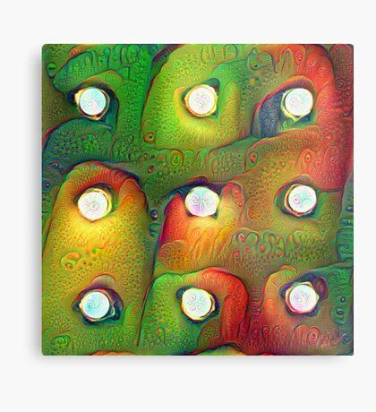 #DeepDream Lights Metal Print