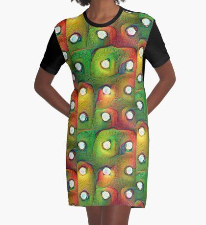 #DeepDream Lights Graphic T-Shirt Dress