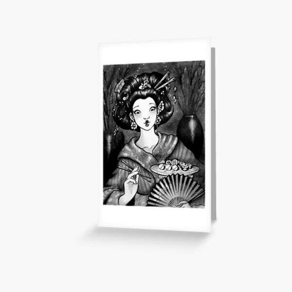 Geisha Sushi Greeting Card