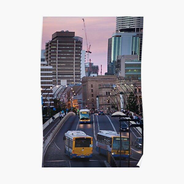 Brisbane City Streets Poster