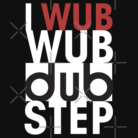 TShirtGifter presents: I wub wub dubstep (black)
