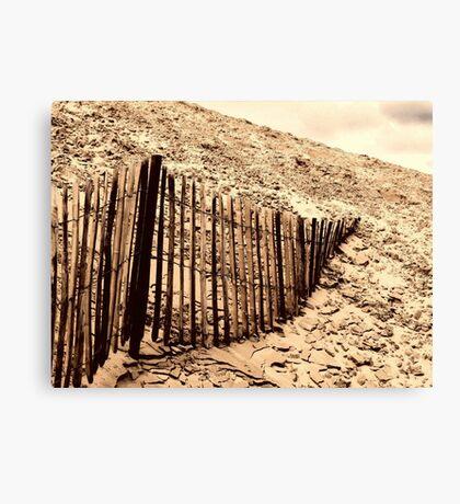 Fence - Dune of Pilat Canvas Print
