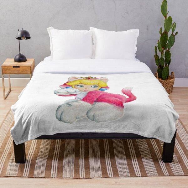 Kitty Peach Throw Blanket