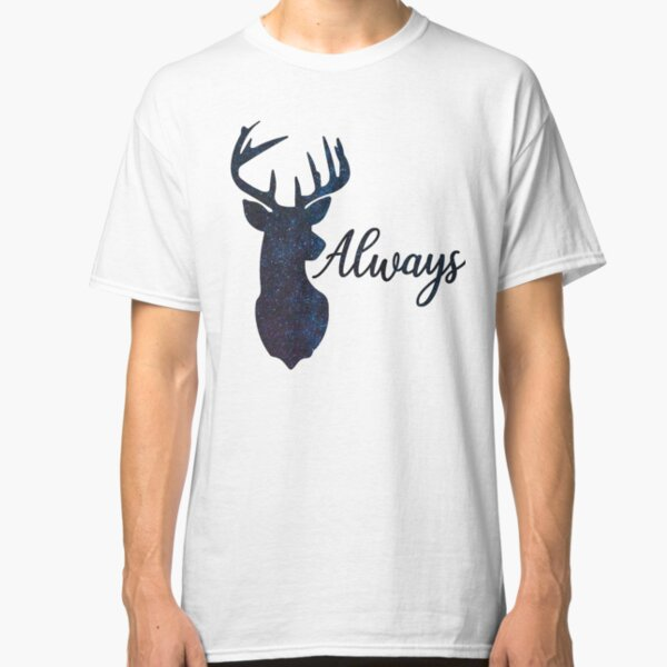 Expectant Patronum pregnancy reveal women/'s black t-shirt with heart and elk
