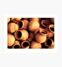 India: A Day in the Life of Varanasi #1 - Earthenware Pots Art Print
