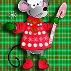 Christmas card with mouse by walstraasart