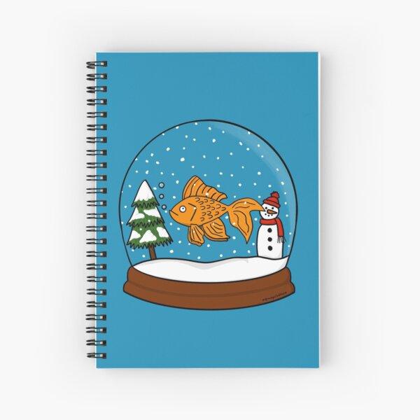 Christmas Goldfish Snowglobe  Spiral Notebook