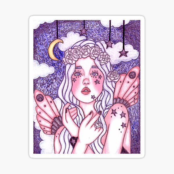 Among The Stars In Lavender Evening Star Fairy  Sticker