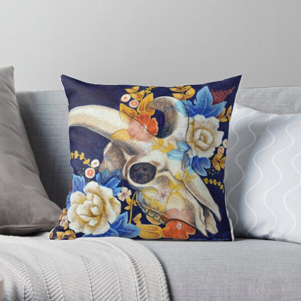 Untitled Skull Throw Pillow