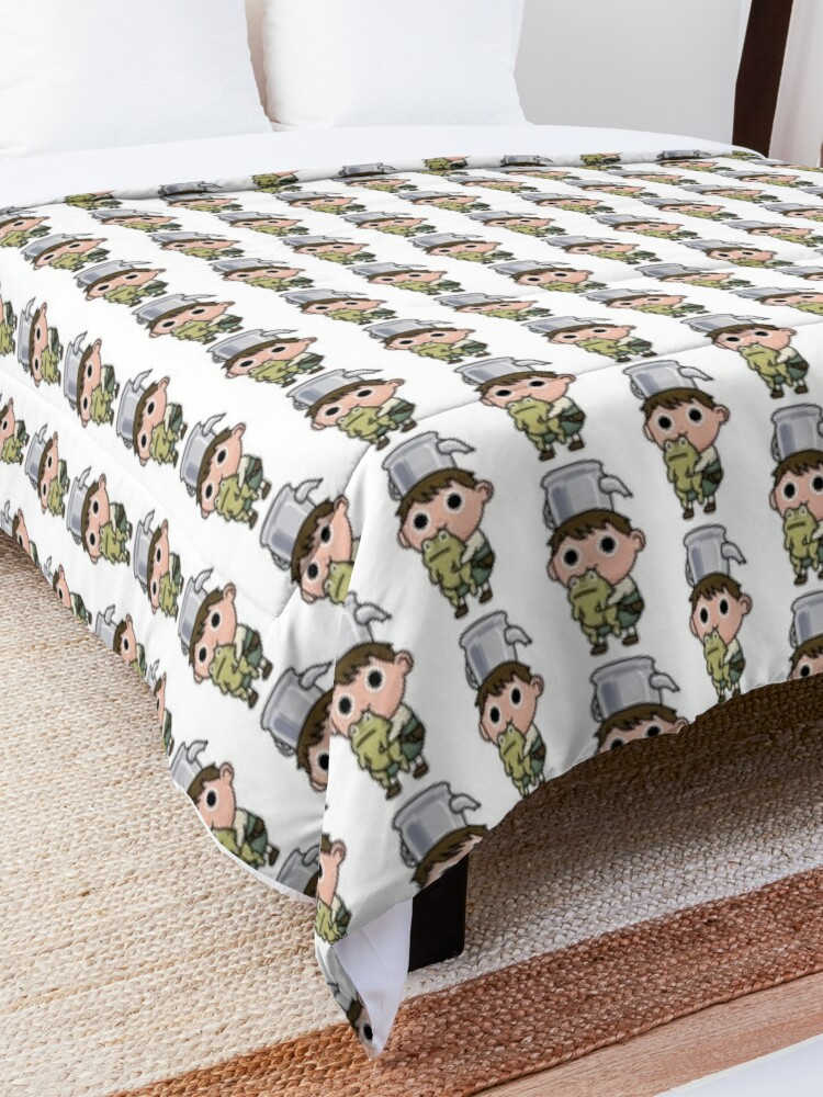Alternate view of Greg and the frog Comforter