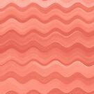 Watercolor Wavy Pattern - Terracotta Orange by blueskywhimsy