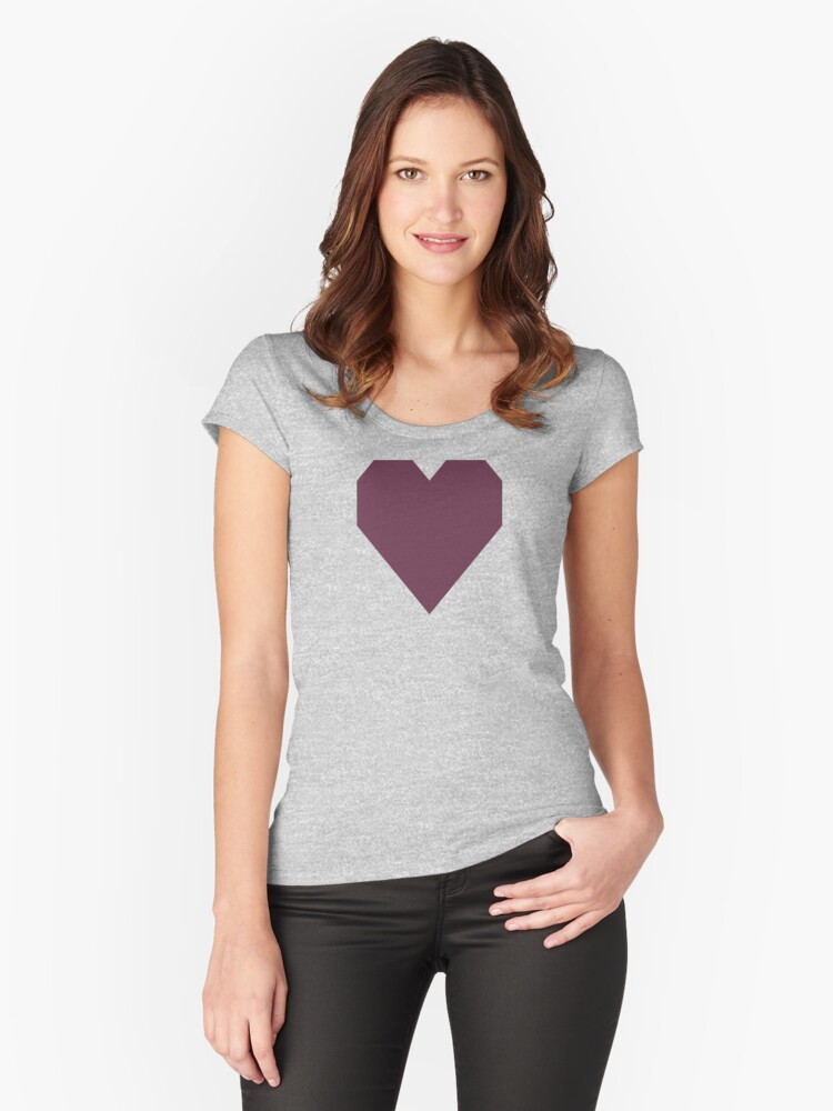 Old Mauve Women's Fitted Scoop T-Shirt Front