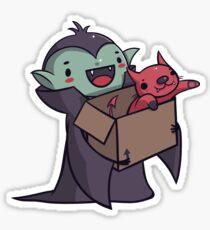 Vlad the Vampire Glossy Sticker