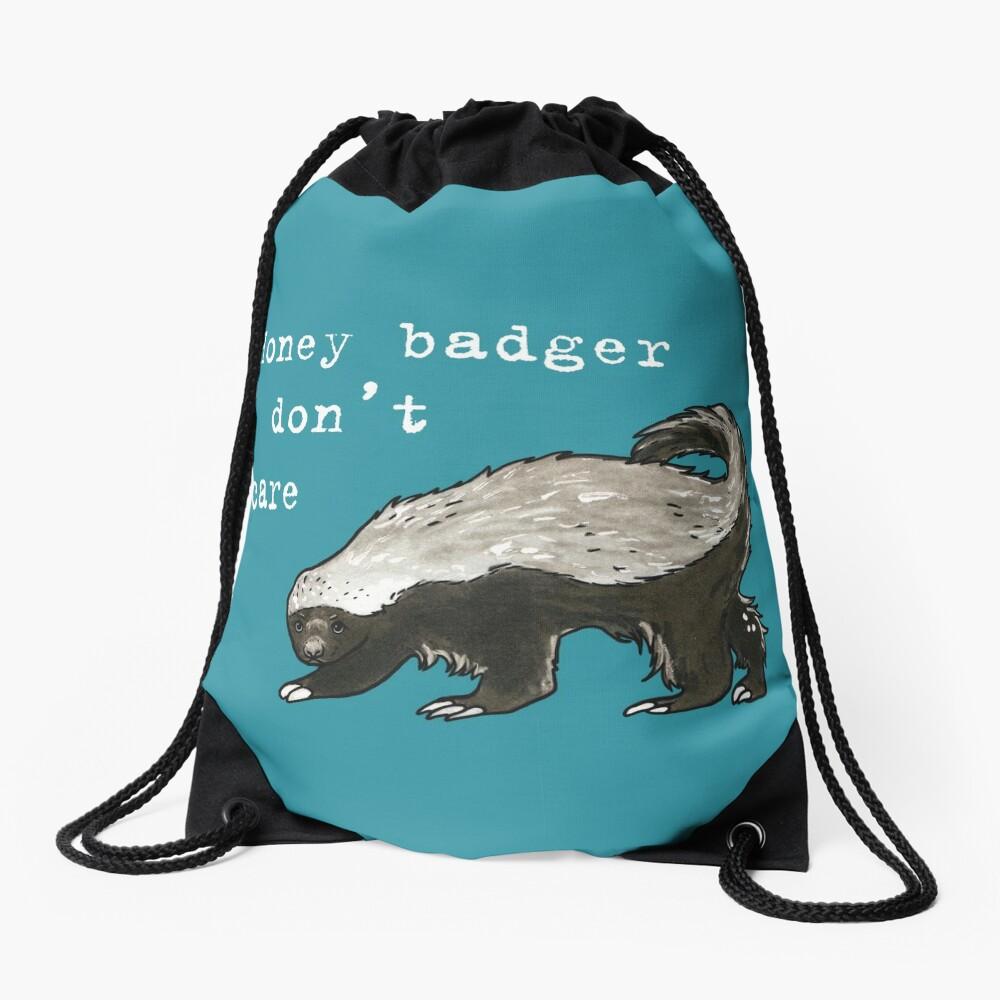 Honey badger dont care - Animal series Drawstring Bag