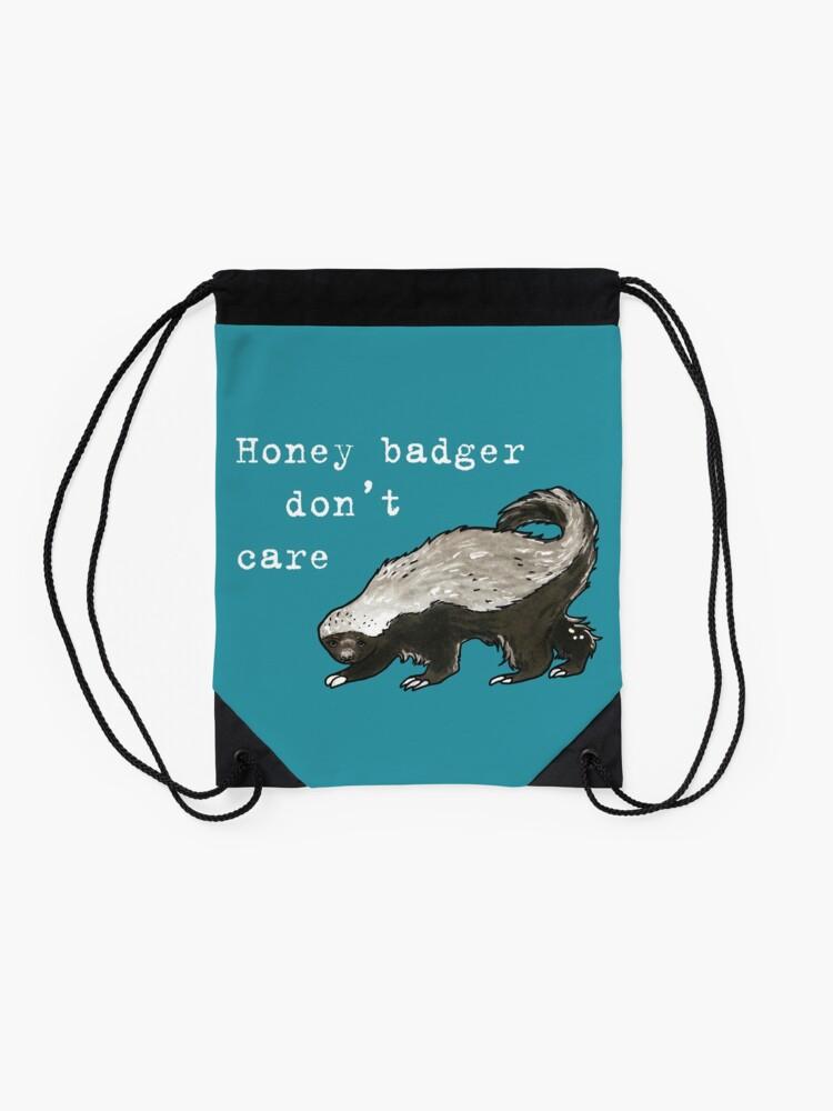 Alternate view of Honey badger dont care - Animal series Drawstring Bag