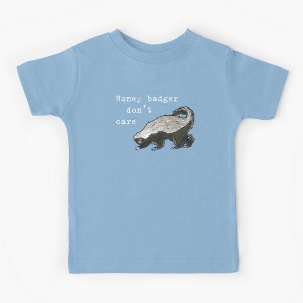 Honey badger dont care - Animal series Kids T-Shirt