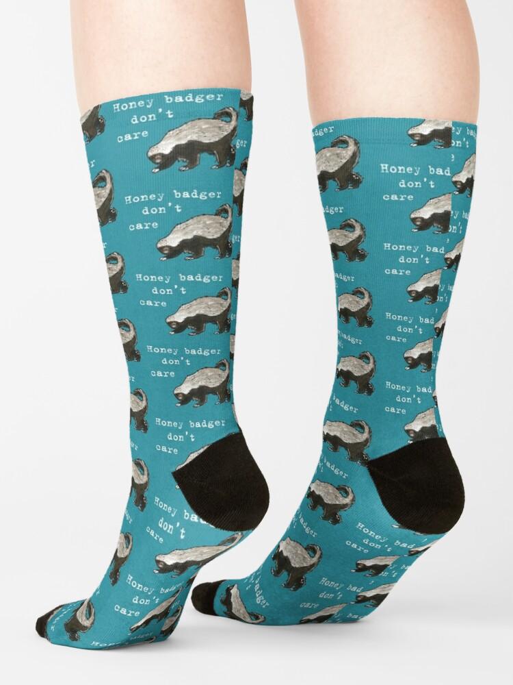 Alternate view of Honey badger dont care - Animal series Socks