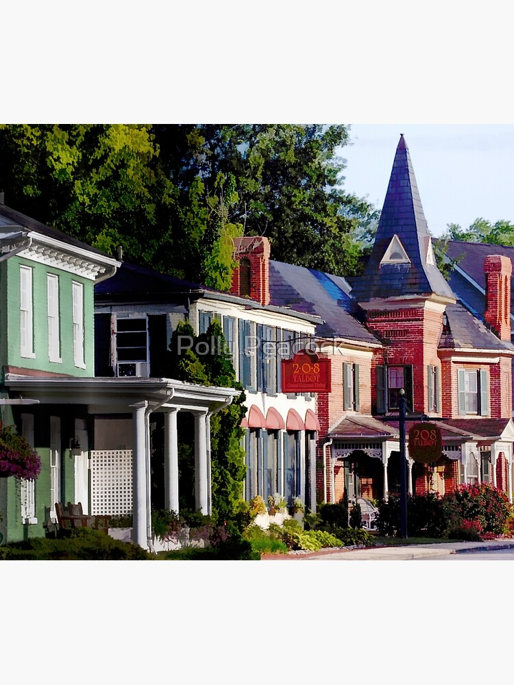 Main Street in Historic St Michaels, Maryland by pollypeacock