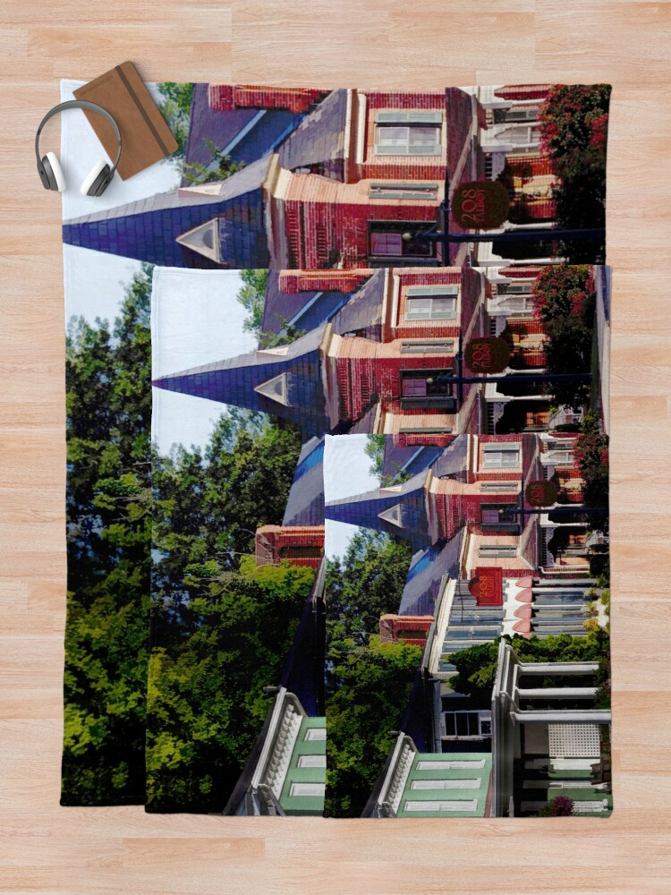 Alternate view of Main Street in Historic St Michaels, Maryland Throw Blanket