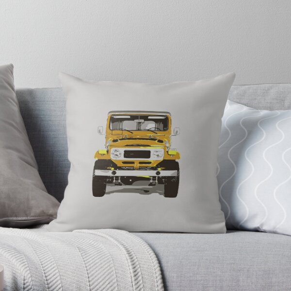 1981 Toyota Land Cruiser FJ40 Throw Pillow