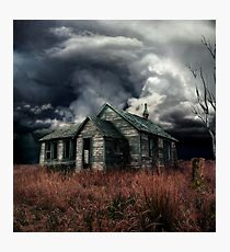just before the storm  Photographic Print