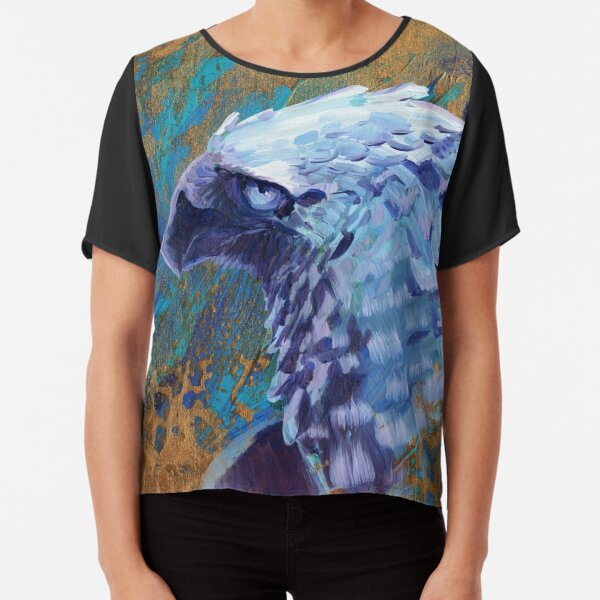 Feathered Royalty Chiffon Top