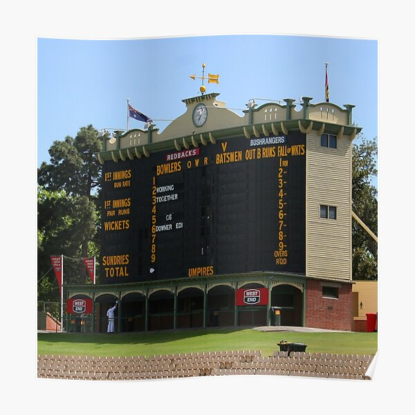 Before the Adelaide Test Poster