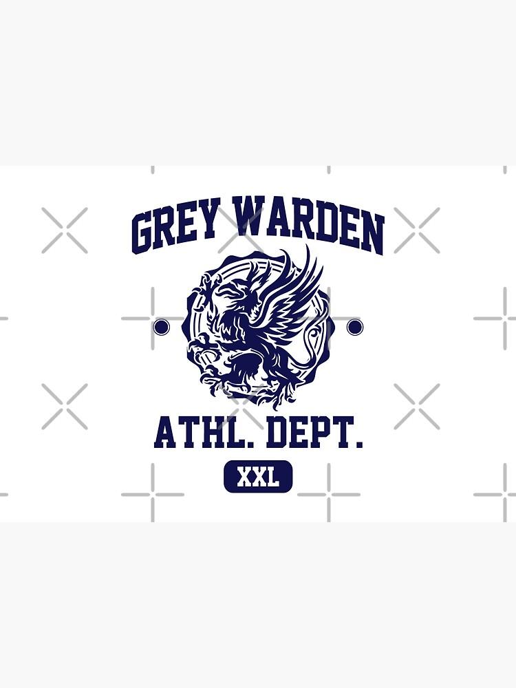 Grey Warden Athletic Department | Dragon Age Gym Shirt Style | Navy Print by surik-