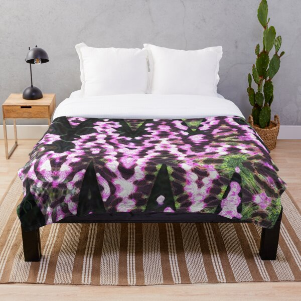 Floral Explosion Throw Blanket