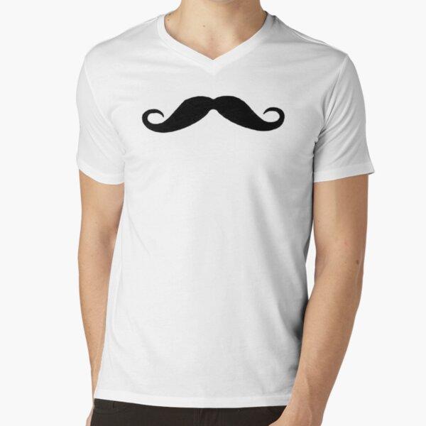 Moustache V-Neck T-Shirt