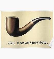 """Magritte's """"The Treachery of Images"""" Poster"""