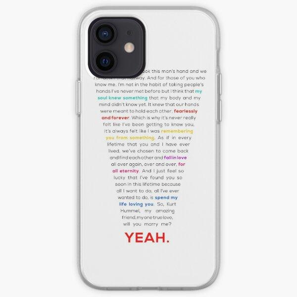 Klaine Proposal iPhone Soft Case