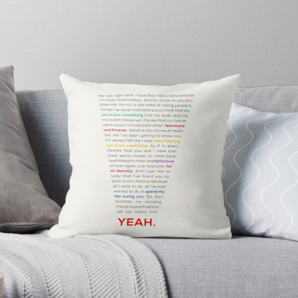 Klaine Proposal Throw Pillow
