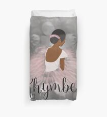 Khymber Personalized African American Dancer Ballerina Duvet Cover