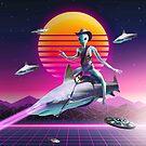 Cowboy Space Alien Riding Laser Shark by SkylerJHill