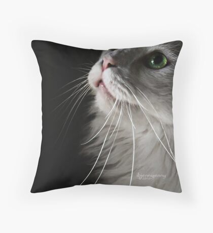 The Only Thing I Hear Throw Pillow