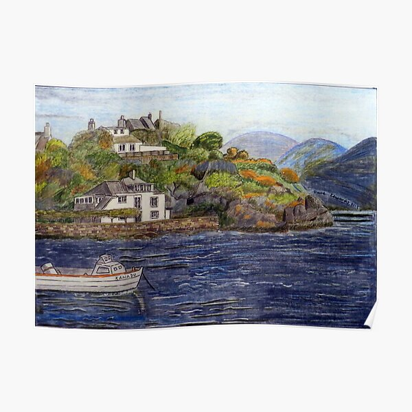 459 - BORTH-Y-GEST, WALES - DAVE EDWARDS - COLOURED PENCILS - 2019 Poster