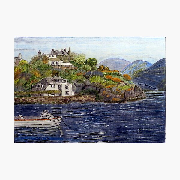 459 - BORTH-Y-GEST, WALES - DAVE EDWARDS - COLOURED PENCILS - 2019 Photographic Print