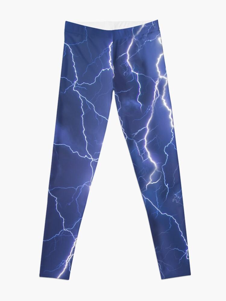 Alternate view of Dazzling blue lightning Leggings