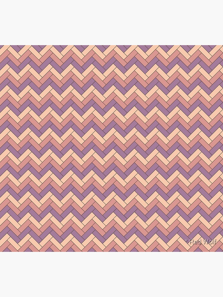 Geometric Pattern: Herringbone: Autumn by redwolfoz