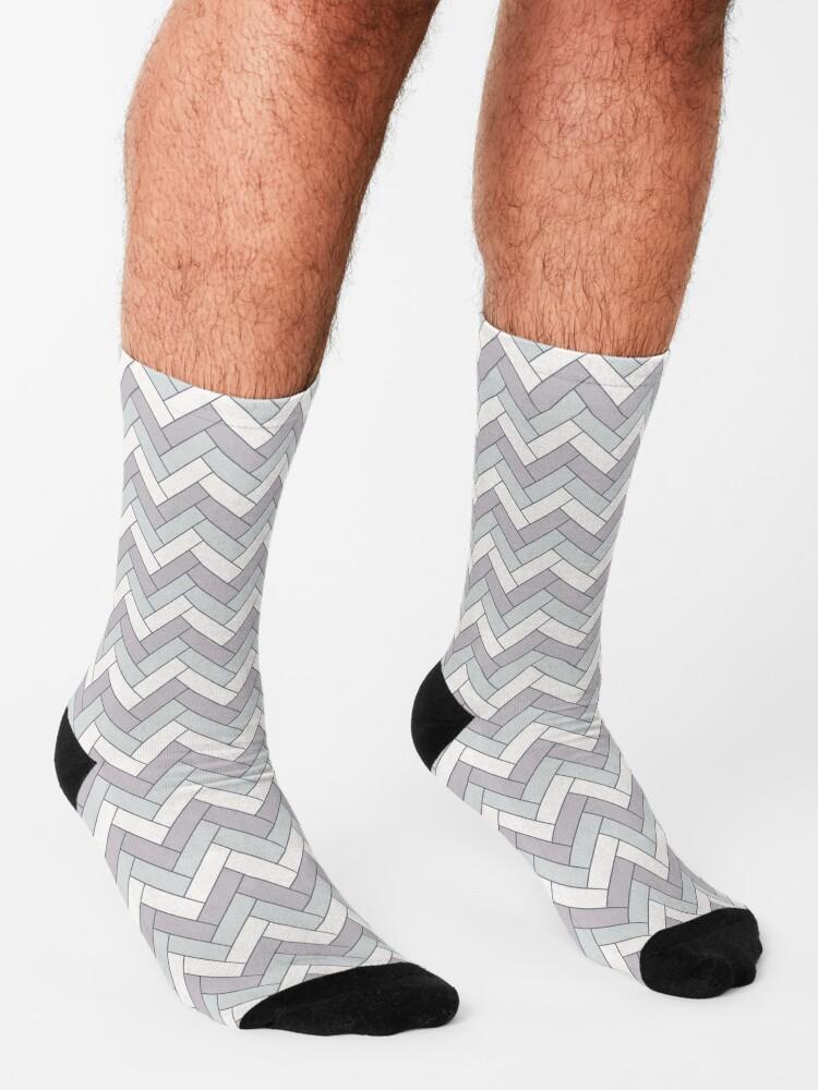 Alternate view of Geometric Pattern: Herringbone: Winter Socks
