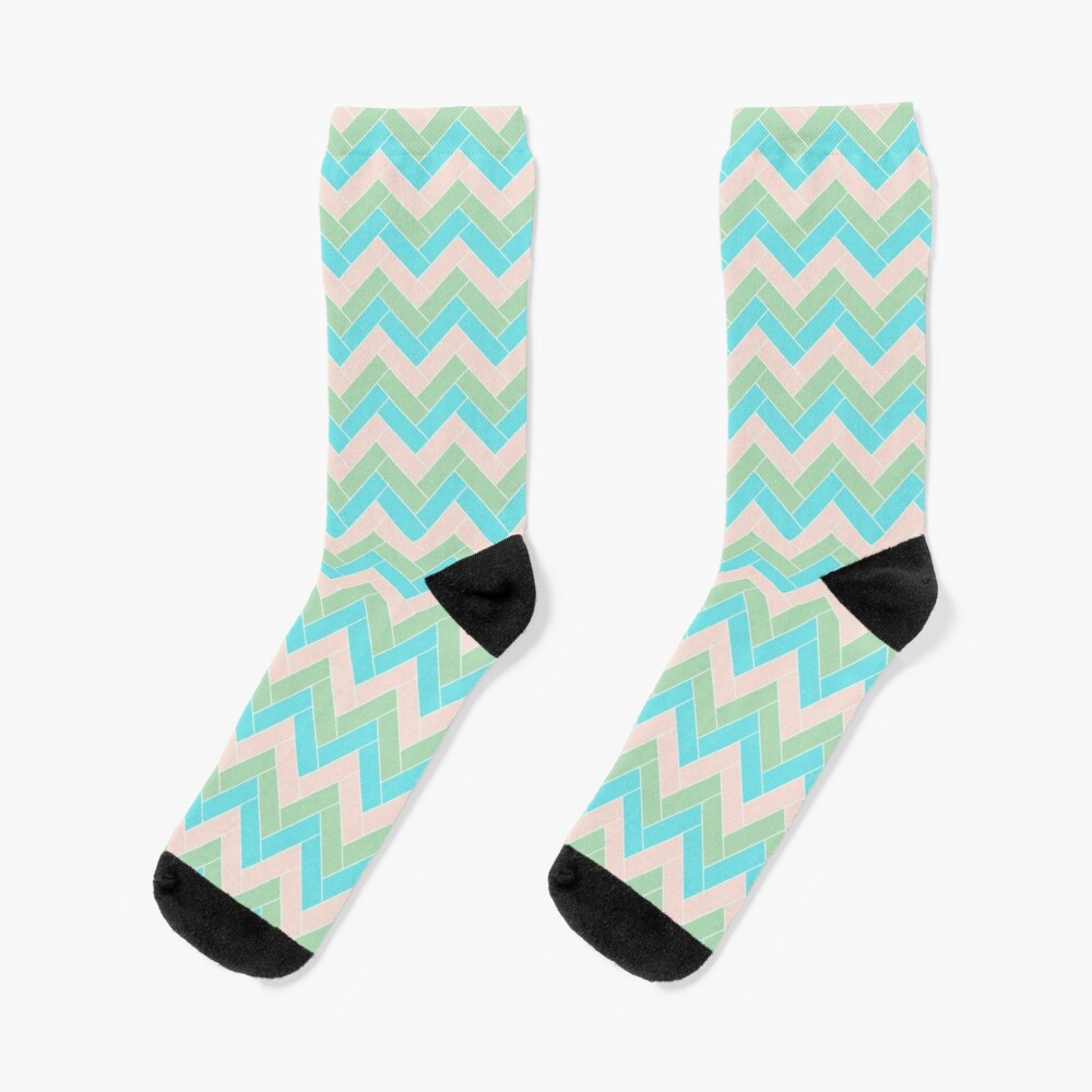 Geometric Pattern: Herringbone: Spring Socks