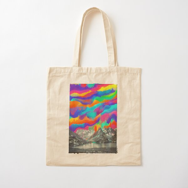 Skyfall, Melting Northern Lights Cotton Tote Bag
