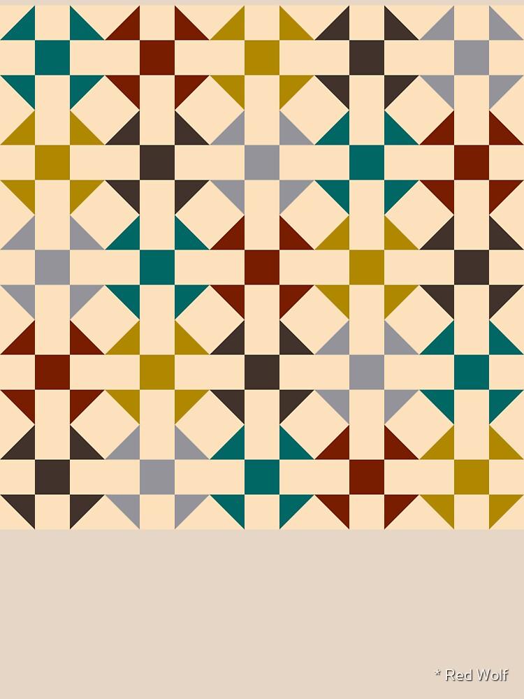 Geometric Pattern: Quilt: Autumn by redwolfoz