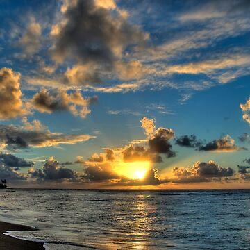 Sunrise Over Beach by rudavis
