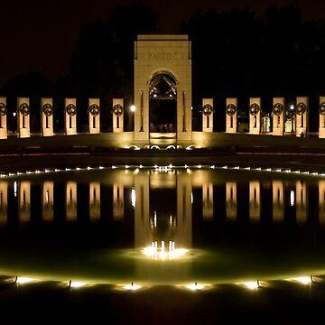 WWII Memorial @ night by rudavis